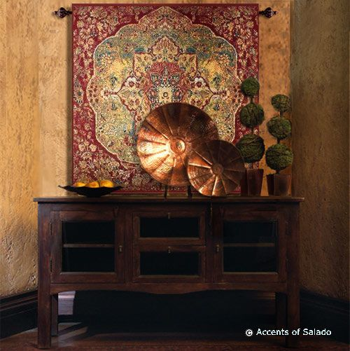 interior design tuscan style textured walls | Foyer Table Decorating Ideas