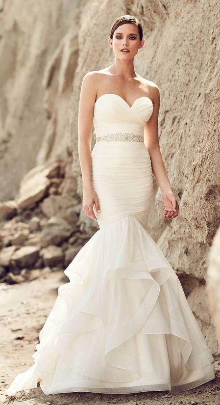 Featured Dress: Mikaella; Wedding dress idea.