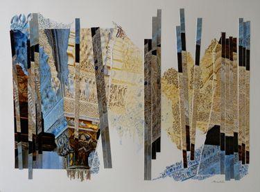 "Saatchi Art Artist nel ten wolde; Collage, ""Mezquita I"" #art"
