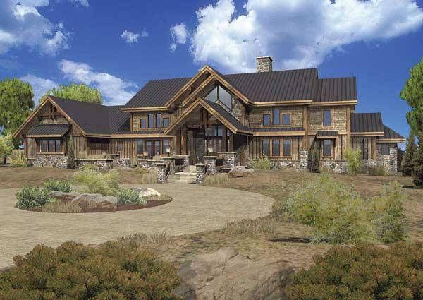 Rose Wild Estate Luxury Lodge Home Plan By Wisconsin Log Homes Log Home Floor Plans Log Homes Modern Courtyard