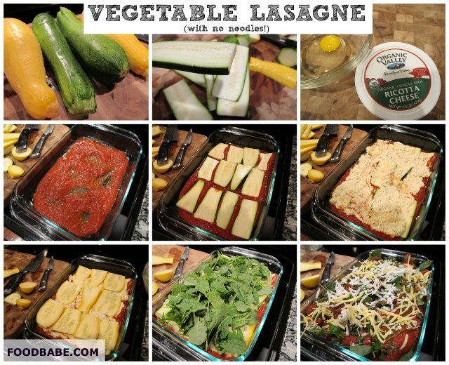 Vegetable Lasagne With No Noddles on http://foodbabe.com
