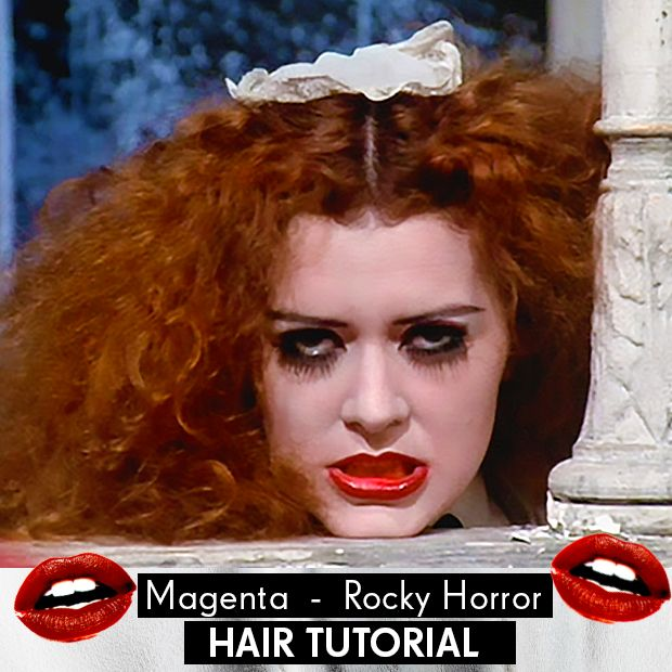 Magenta from 'Rocky Horror' Hair Tutorial