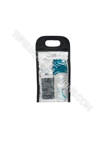 Estuche de depilación para pieles sensibles. El estuche contiene:  - 1 calentador de cera - 2 cartuchos de cera, cabezal ancho (2 x 100 ml) - 1 botella de aceite posdepilación (75 ml) - 1 bolsa de bandas depilatorias (50)  Consíguelo en: http://www.tupeluqueriaonline.com/estetica/depilacion/cera-tibia/sibel-kitepil-piel-sensible