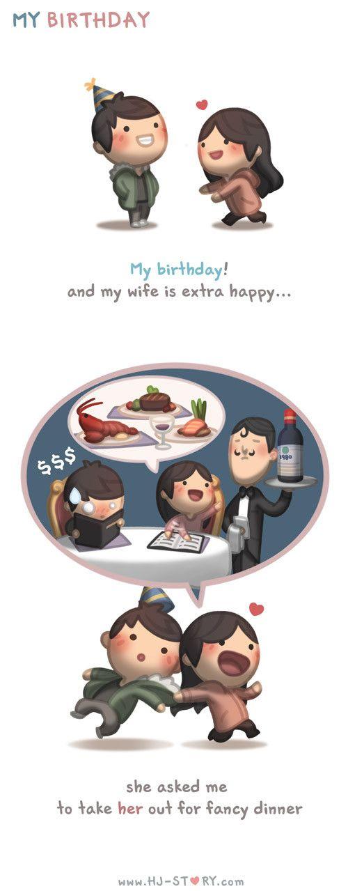 HJ-Story :: è meu aniversario e minha esposa esta super feliz ela me perguntou se eu quero comer algo chique