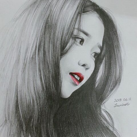 #입술이포인트 #iu #drawing #fanart #sketch #art #handart #handdrawing #1시간30분작