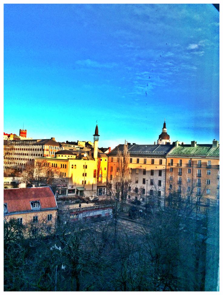 Pic taken from our hotel room at Scandic Malmen at Söder in Stockholm.