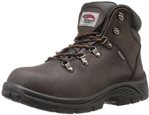 Avenger Safety Footwear Men's 7625 Leather Waterproof Soft Toe EH Work Boot Industrial and Construction Shoe