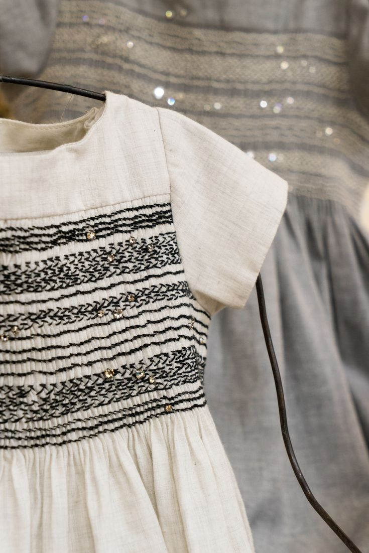 Bonpoint Winter 2015, smocking, embroidery