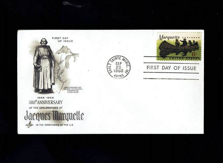 US 1356 Marquette Explorer Sep 20, 1968 Sault Sainte Marie MI First Day Cover lot #F1356-1 by VicsStamps on Etsy