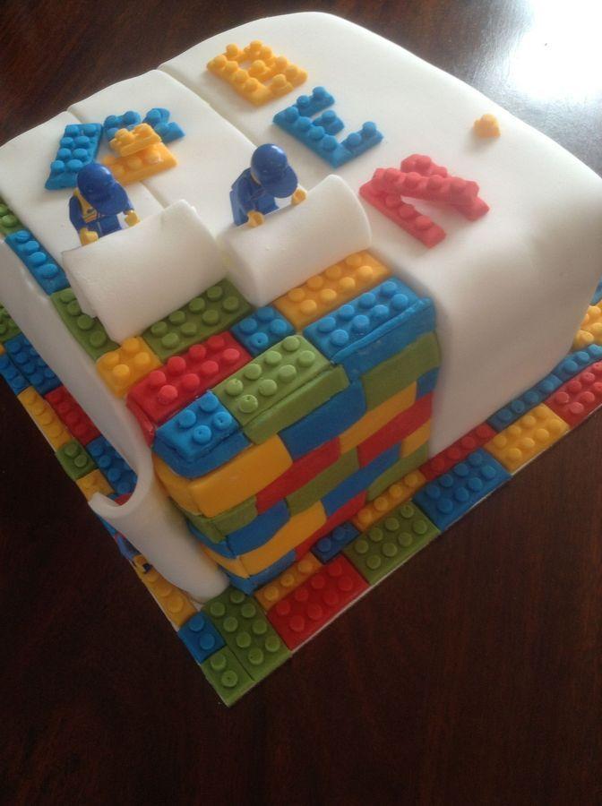 LEGO Birthday Cake... made of lego's... riiight!