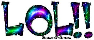Lol Glitter Word Image: Graphic Comment Meme or GIF