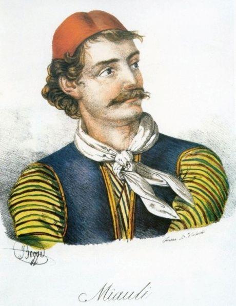 Giovanni Boggi , Α. Μιαούλης , λιθογραφία.
