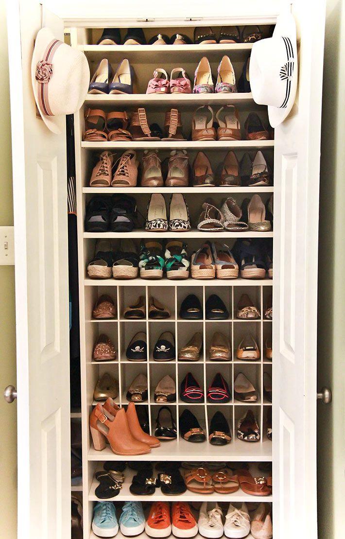Стеллажи для хранения обуви в интерьере