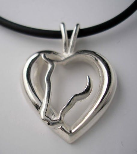 Jamie's Horse Jewelry Heart and Horse Pendant....Horse Jewelry Oh also matching earrings and bracelet. http://www.jamieshorsejewelry.com/kt-07-horse-pendant