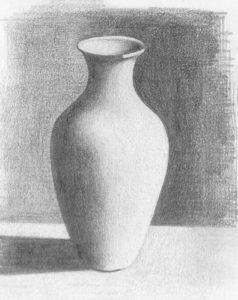 Pencils Sketches of Flower Vase