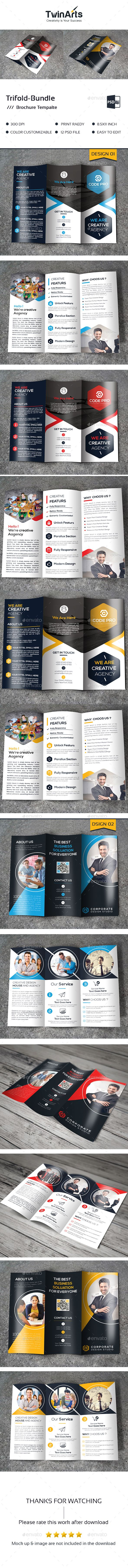 2 Tri-fold Brochure Template PSD. Download here: http://graphicriver.net/item/trifold-bundle_2-in-1/16690349?ref=ksioks