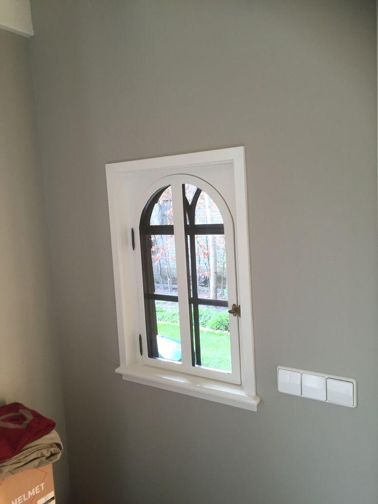 garden house; iron window inside finishing