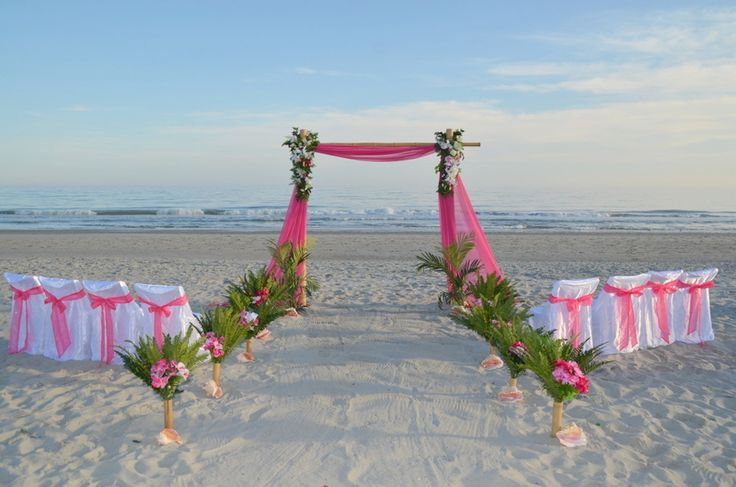 Show Ad 469 Elegant Bamboo Arch With Colors Setting E 1 Myrtle Beach Wedding Packages All Inclusive Weddings By Occ