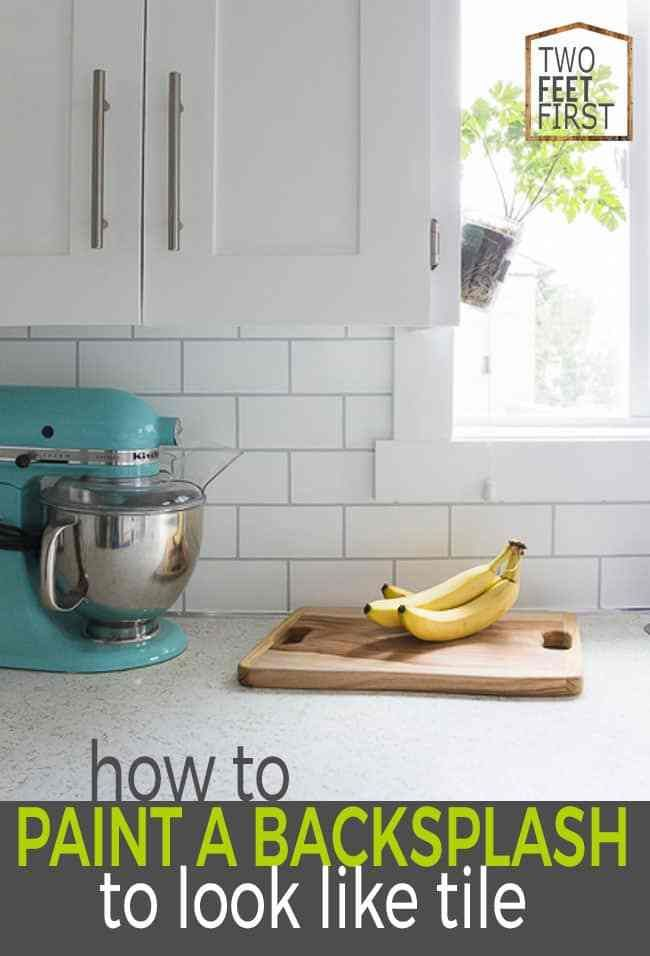 How To Paint A Backsplash To Look Like Tile Easy Backsplash Backsplash Cheap Diy Backsplash