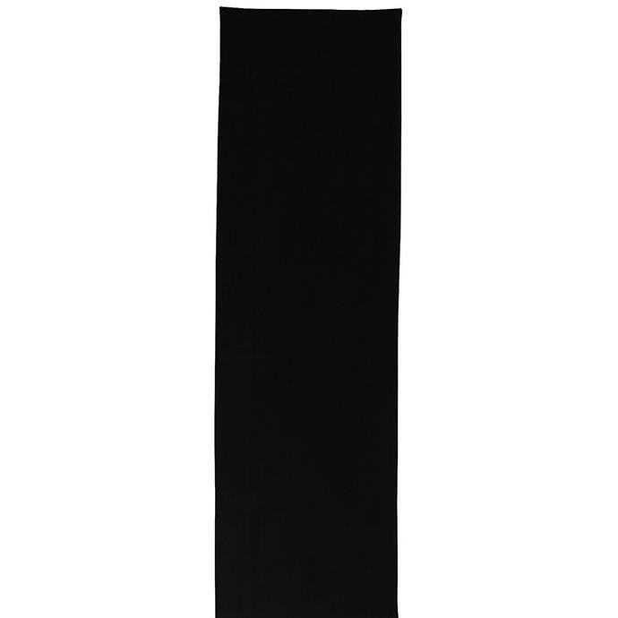Plain black linen table runner