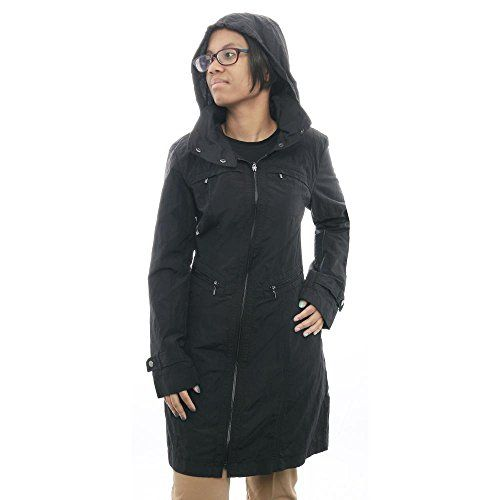 Cole Haan Women's Nylon Packable Jacket with Detachable Hood, Black, Small >>> Visit the image link more details.
