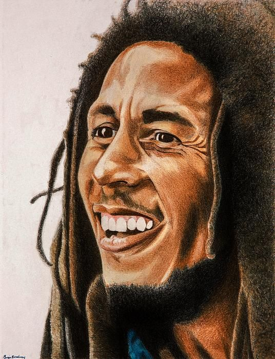 *Bob Marley* More fantastic paintings, pictures and videos of *Bob Marley* on: https://de.pinterest.com/ReggaeHeart/ ©Brian Broadway/ brianbroadway.com