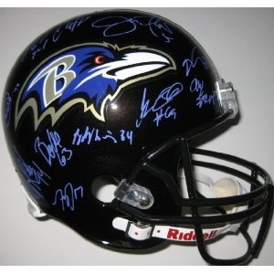 #BaltimoreRavens #RayLewis (CLICK IMAGE TWICE FOR UPDATED PRICING AND INFO)  2012, Baltimore Ravens, Team, Signed, Autographed, Riddell Full Size Helmet, a Coa with the Proof Photos of Ravens Players Signing the Helmet Will Be Included