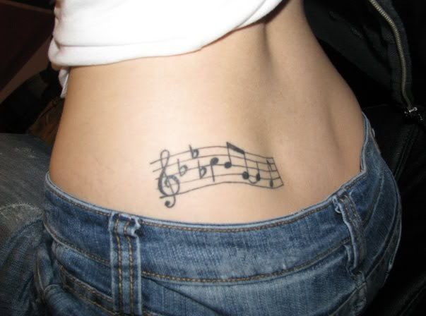 Girl tattoo music