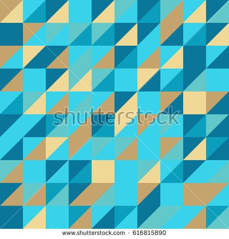 Vector blue abstract triangle seamless pattern texture background