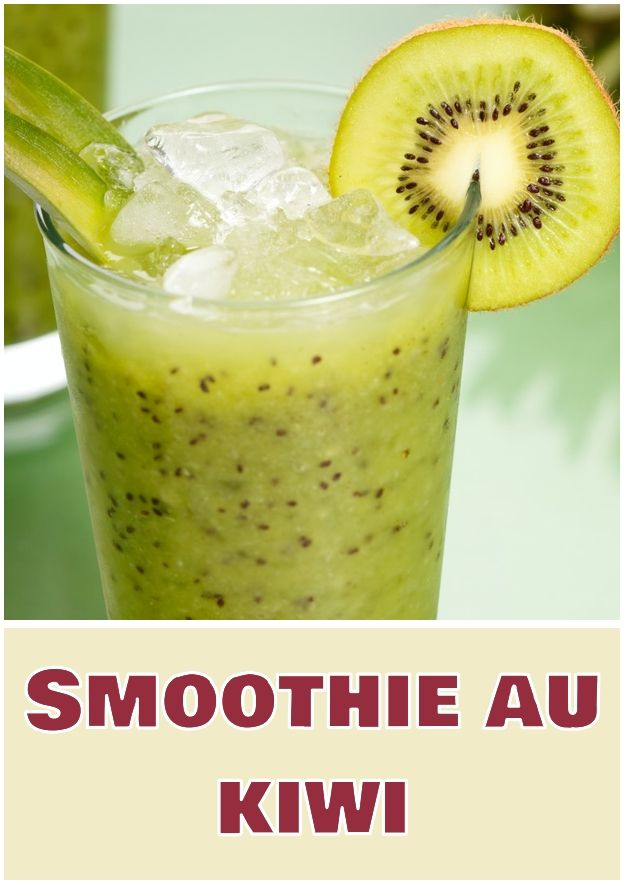 Smoothie au kiwi  Celery juice is very beneficial for health