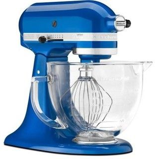 KitchenAid Artisan Designer Series 5 qt. Stand Mixer in Electric Blue KSM155GBEB - contemporary - blenders and food processors - by Home Dep...