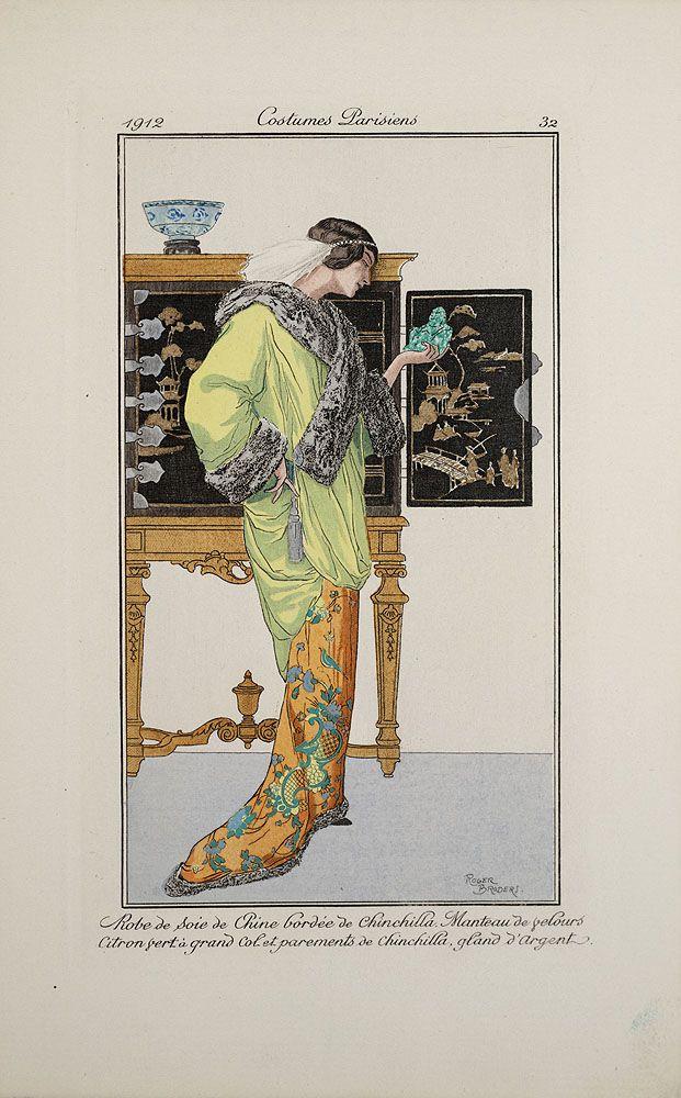 Journal des dames et des modes, 1914: Edwardian Fashion, Fashion History, Fashion Forward, Deco Fashion, Fashion Plates, 1910 S Fashion, 1910S Fashion, Costumes Plates, Fashion Illustrations