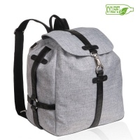 LÄSSIG Green Label Backpack black melange / Materiale: 100% #genbrugt polyester #pusletaske