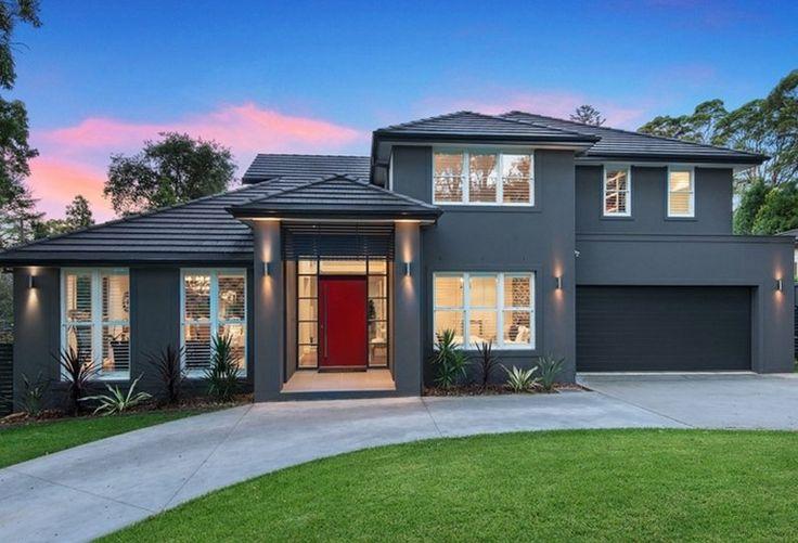 Modern grey facade arquitectura pinterest grey for Facade colour ideas