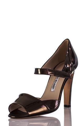 Manolo Blahnik copper metallic sandals   OWN THE COUTURE   Canada's luxury designer consignment online boutique