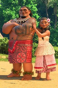 """Temuera Morrison and Nicole Scherzinger play Chief Tui and Sina, Moana�s parents. 
