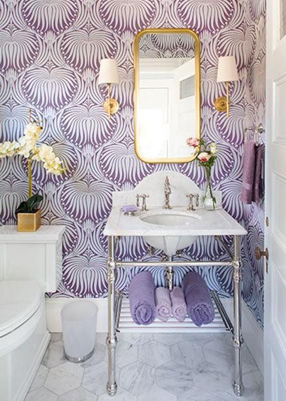 Awesome And Artistic Vinyl Material Self Adhesive Wallpaper Easy To Use Add To Your Room Personalised Charm Only Purple Bathrooms Remodel Bedroom Home Decor