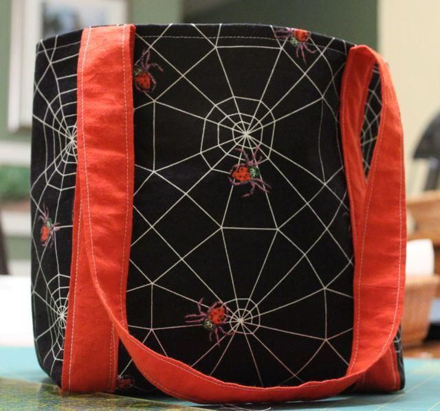 Ditch the pillowcase and craft your own Halloween bag. This wee Halloween bag tutorial by Craftsy is perfect for your little one's first trick-or-treat experience. The straps are long enough for an adult to carry over their shoulder and it's reusable for years to come!
