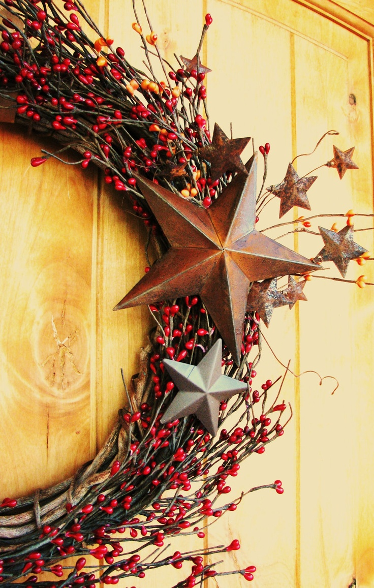 Rustic Star Wreath