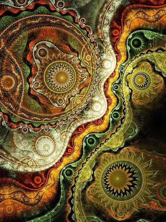 Creative Fractals by Eli Vokounova http://www.cruzine.com/2013/03/15/creative-fractals-eli-vokounova/