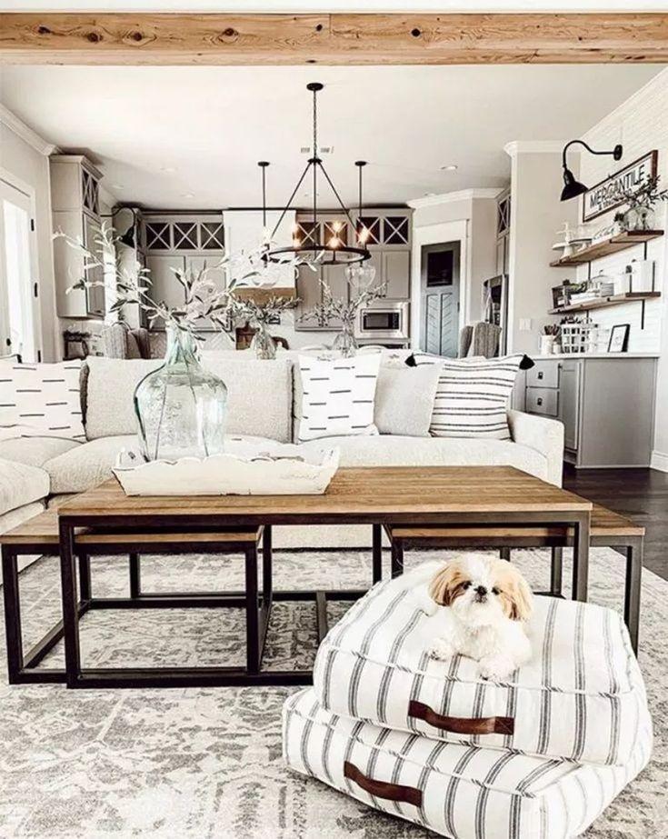 65 Rustic Farmhouse Living Room Decor Ideas For Your Home