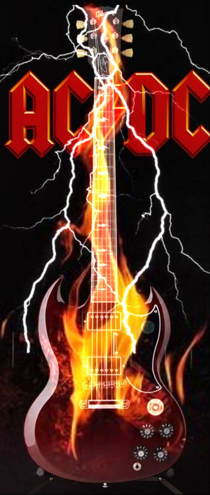Fire Guitar Band Wallpapers Best Rock Bands Vintage Music Posters