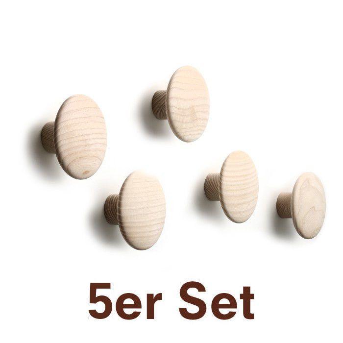 The Dots Kleiderhaken 5er Set Esche S Muuto
