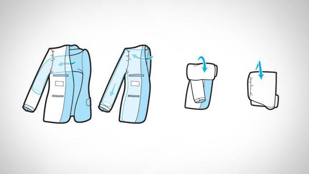 機内持ち込み用バッグにも入るスーツのジャケットの最もコンパクトなたたみ方 | ライフハッカー[日本版]