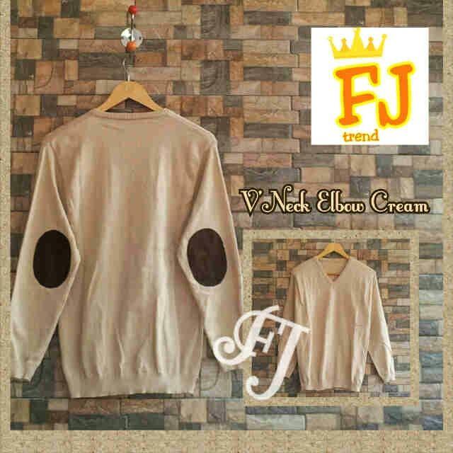 sweater rajut pria VNECK ELBOW CREAM, harga 40k www.ramailancar.com www.facebook.com/tokobajurajutmurah (di LIKE ya...TQ) 0857 2212 6318