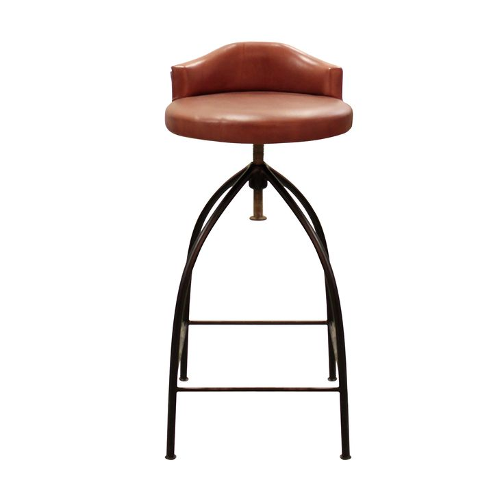 Bar Chair A - Leather. Complement your dining counter with this leather Bar Stool with black metal base. A great way to chill out and enjoy. - EDD+
