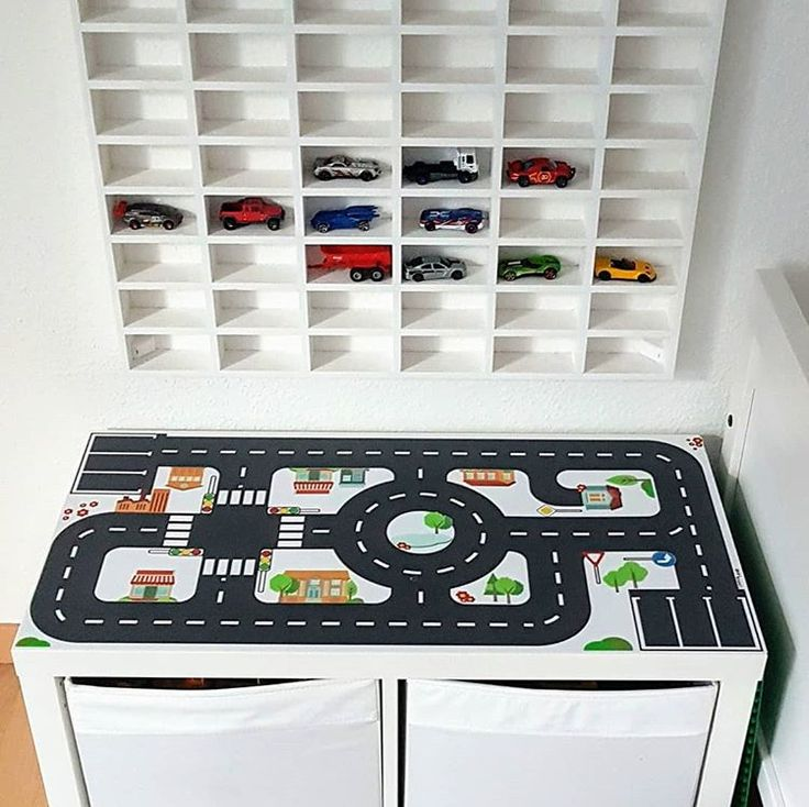 """Photo of What do you think of a real car game station with playing surface and """"park …"""