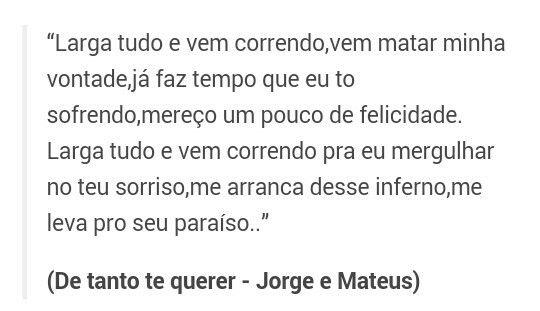 De Tanto Te Querer - Jorge e Mateus