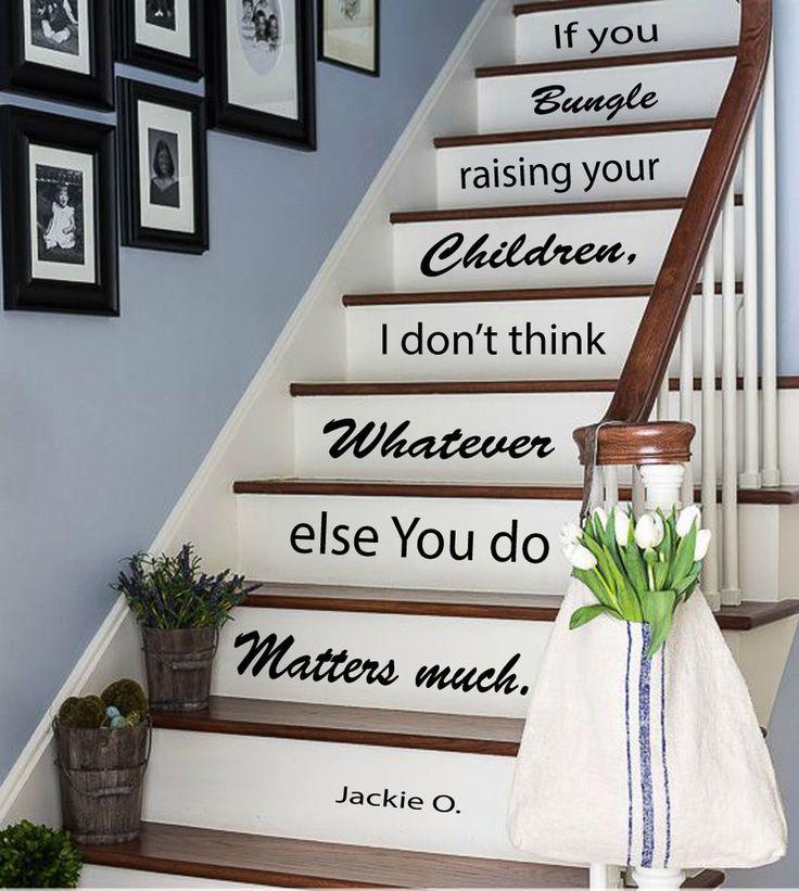Wall Vinyl Decal Sticker Love Children Quote Stairs Design Stairway Decor  Kk805