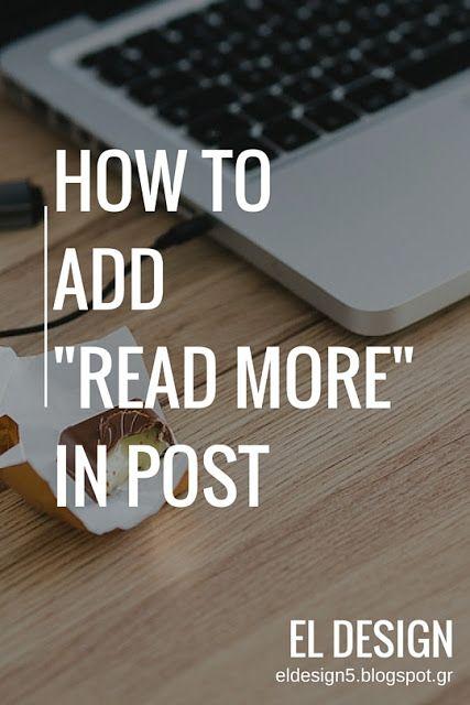 Πως προσθέτω «Διαβάστε περισσότερα» σε ανάρτηση